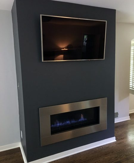 fireplace room transformation After