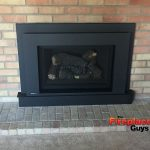Black on brick gas fireplace conversion