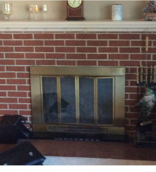 Brass to Class fireplaces before