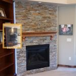 Corner wall fireplace feature bloomington mn F