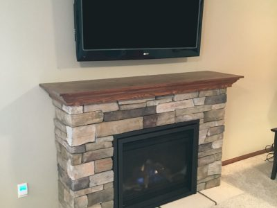 Country Ledgestone Fireplace addition