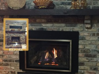 Easily converted gas fireplace conversion in mn ba