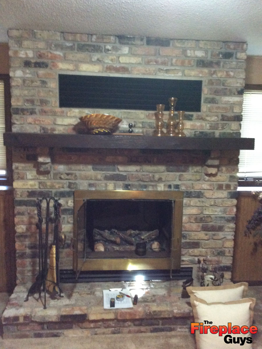 Fireplace Description Part - 21: Easily Converted Gas Fireplace Conversion In Mn