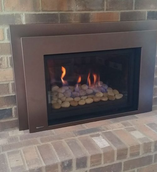 Low Profile fireplace insert