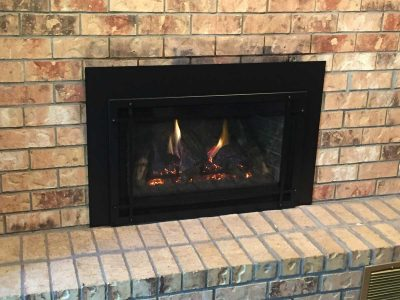 No more soot brick fireplace insert