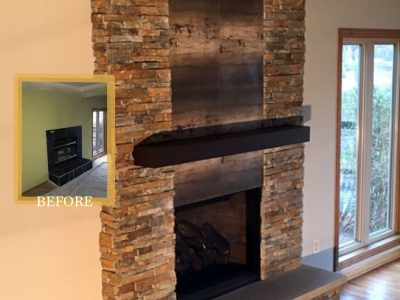 metal mantel fireplace design ideas mn