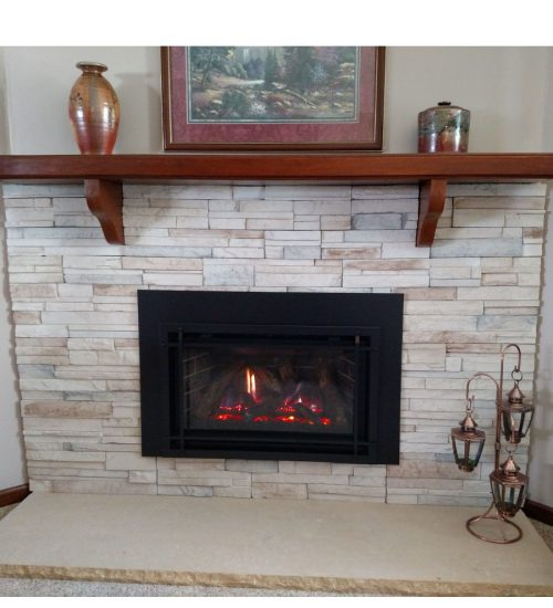 minimal facelift fireplace update saint paul