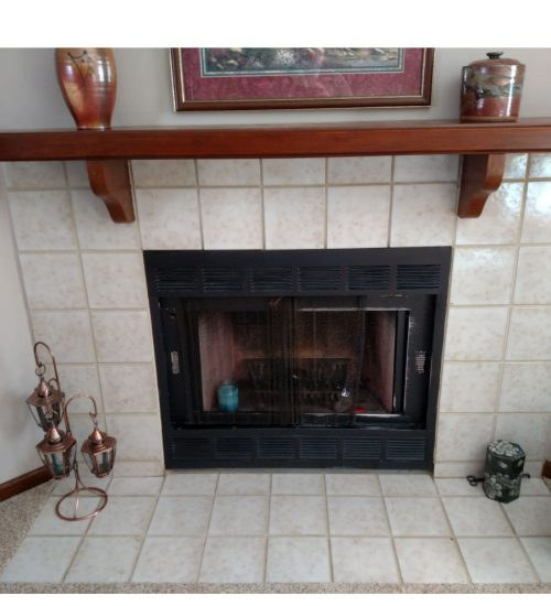 minimal facelift fireplace update saint paul before