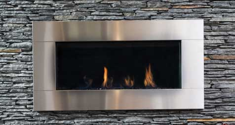 Modern Linear Fireplaces in our mn location