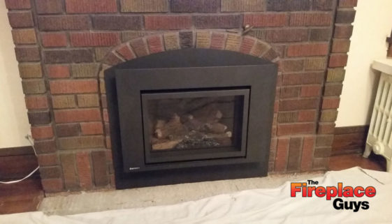 Arch-insert-gas-fireplace-custom-install