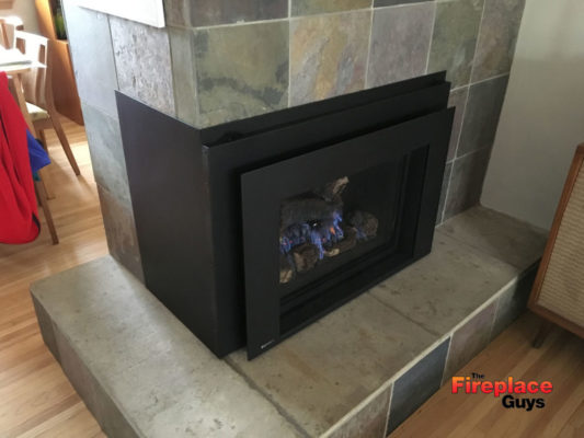 Corner Fireplace Metal Design Converted