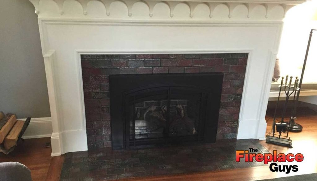 Vintage mantel fireplace update mn