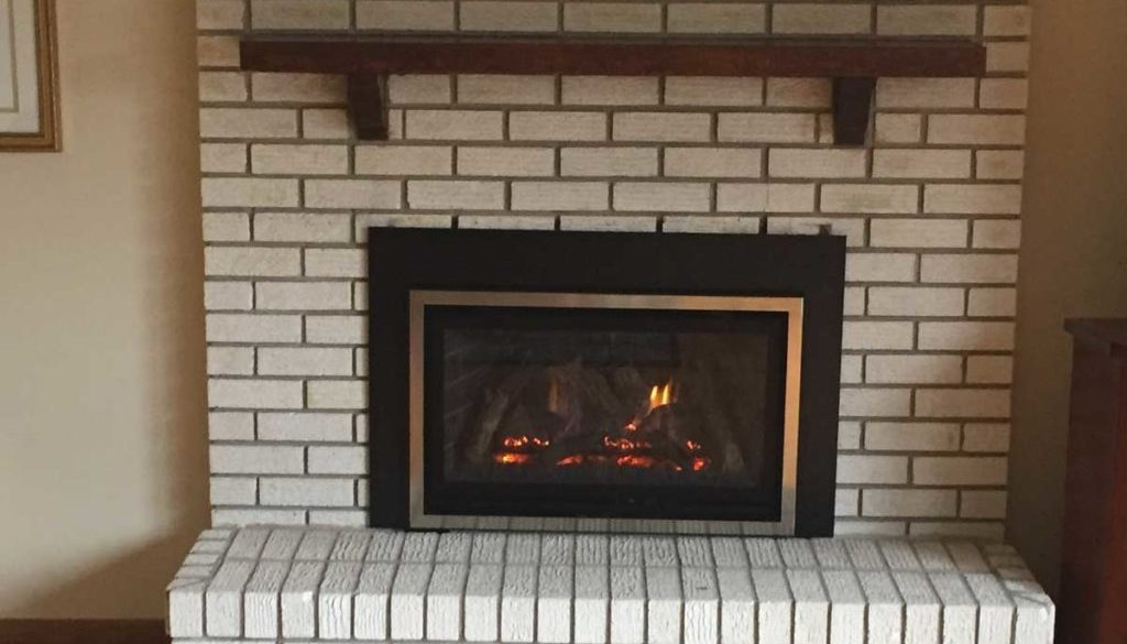 Wood Converted Fireplace Roseville MN