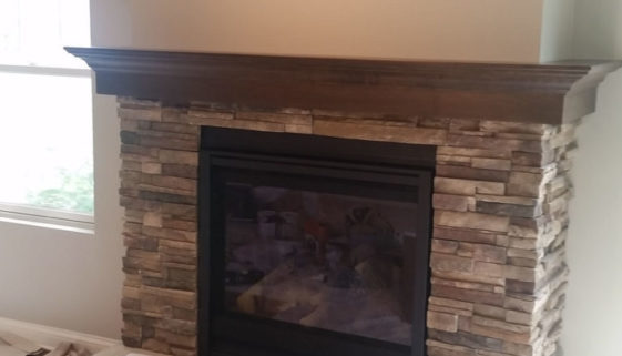 Wrap around mantel fireplace service