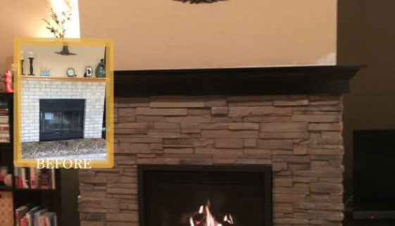 brick renewal before fireplace after