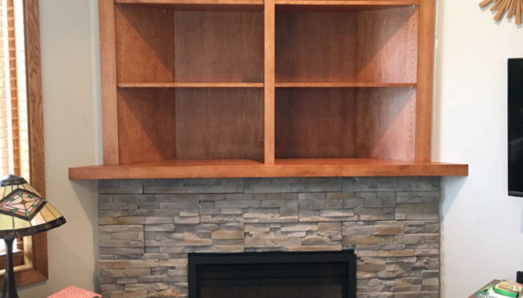built in shelving fireplace guys