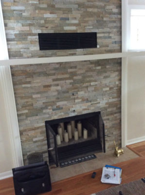 Wood Fireplace Before Conversion