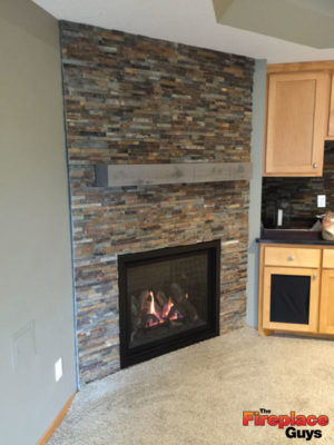 corner fireplace feature kozy heat installation