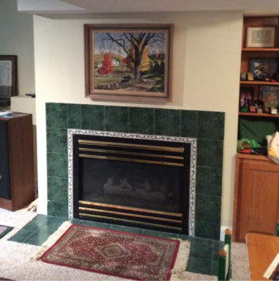 Old Gas Fireplace Eagan MN Before